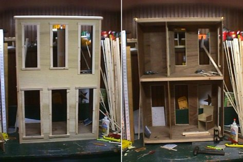 Doll House under construction.